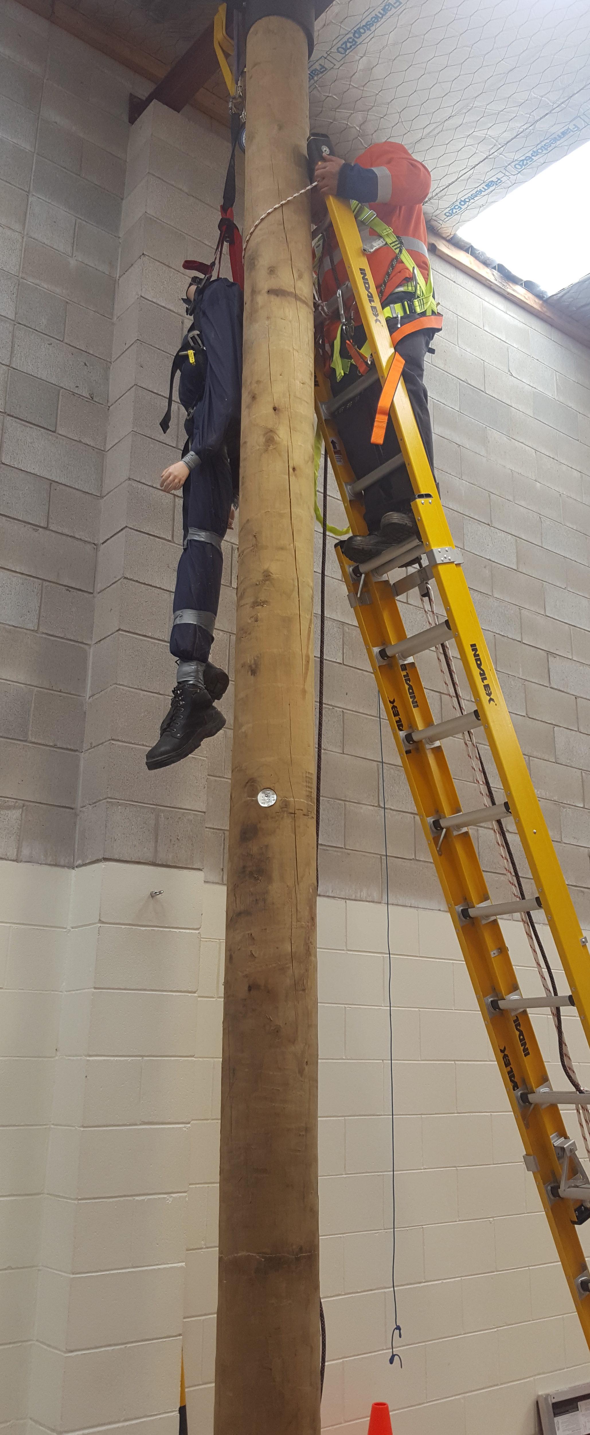 Pole top rescue 4